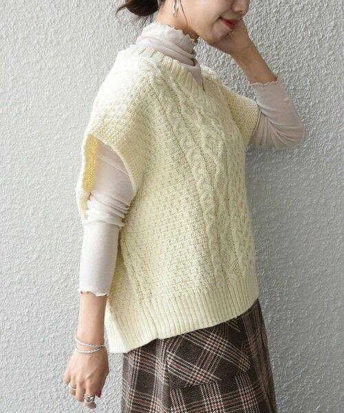 SHIPS for women / シップスウィメン ベスト | 【SHIPS any別注】Oldderby Knitwear: オーバー アラン ケーブル ニット ベスト | 詳細4