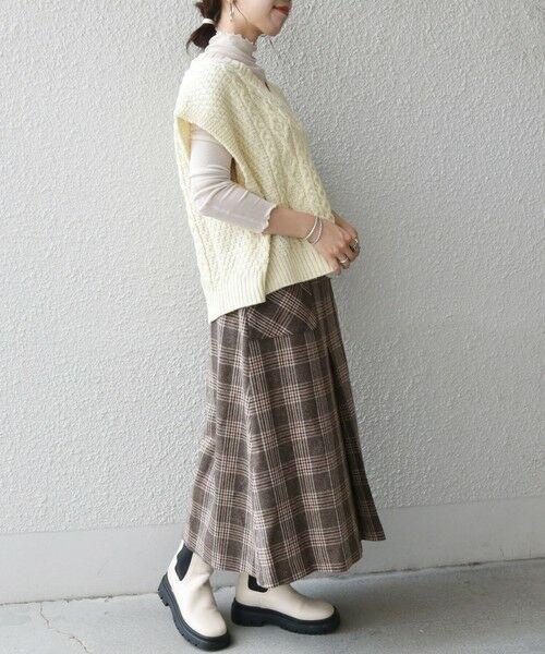 SHIPS for women / シップスウィメン ベスト | 【SHIPS any別注】Oldderby Knitwear: オーバー アラン ケーブル ニット ベスト | 詳細6