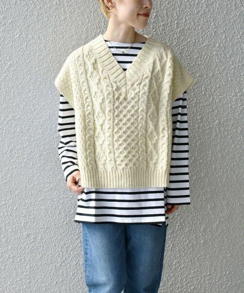 SHIPS for women / シップスウィメン ベスト | 【SHIPS any別注】Oldderby Knitwear: オーバー アラン ケーブル ニット ベスト | 詳細7