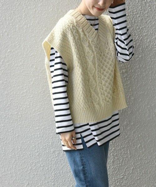 SHIPS for women / シップスウィメン ベスト | 【SHIPS any別注】Oldderby Knitwear: オーバー アラン ケーブル ニット ベスト | 詳細8