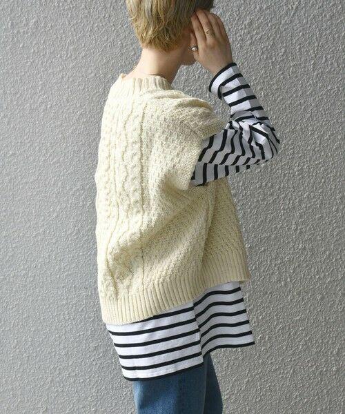 SHIPS for women / シップスウィメン ベスト | 【SHIPS any別注】Oldderby Knitwear: オーバー アラン ケーブル ニット ベスト | 詳細9