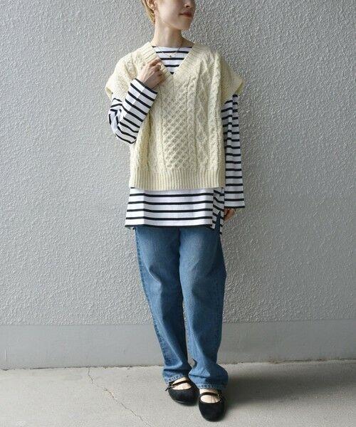 SHIPS for women / シップスウィメン ベスト | 【SHIPS any別注】Oldderby Knitwear: オーバー アラン ケーブル ニット ベスト | 詳細10