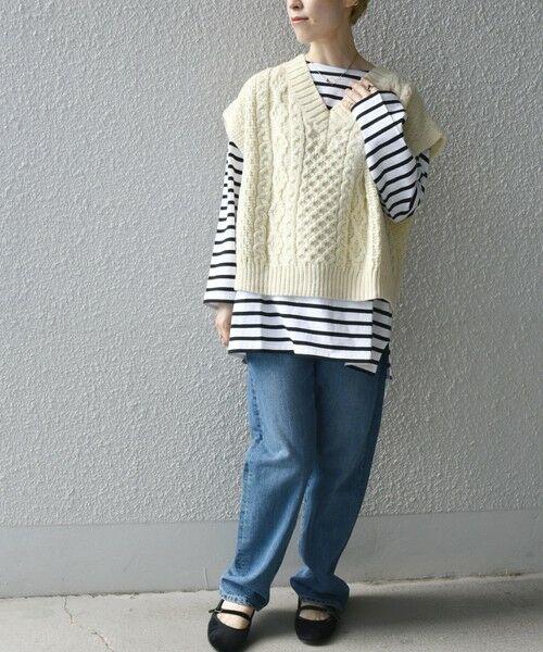 SHIPS for women / シップスウィメン ベスト | 【SHIPS any別注】Oldderby Knitwear: オーバー アラン ケーブル ニット ベスト | 詳細11