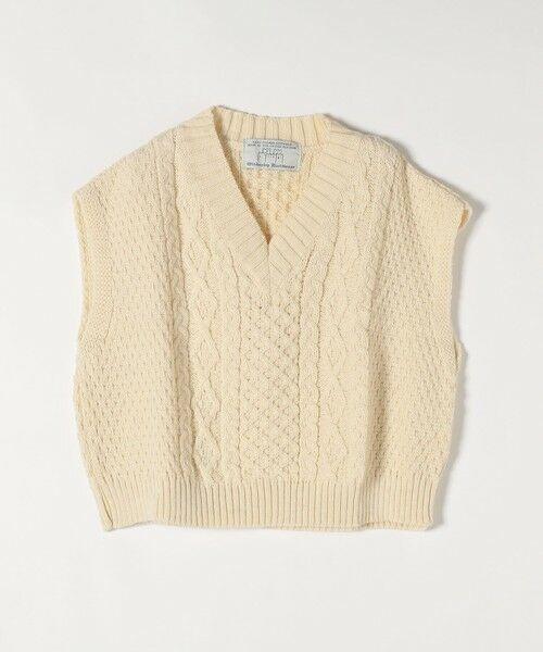 SHIPS for women / シップスウィメン ベスト | 【SHIPS any別注】Oldderby Knitwear: オーバー アラン ケーブル ニット ベスト | 詳細1