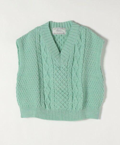 SHIPS for women / シップスウィメン ベスト | 【SHIPS any別注】Oldderby Knitwear: オーバー アラン ケーブル ニット ベスト | 詳細12