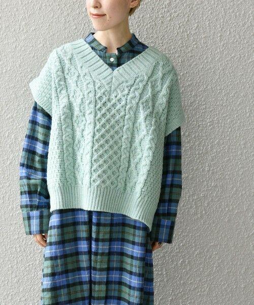 SHIPS for women / シップスウィメン ベスト | 【SHIPS any別注】Oldderby Knitwear: オーバー アラン ケーブル ニット ベスト | 詳細19