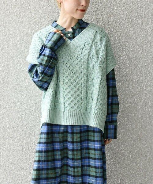 SHIPS for women / シップスウィメン ベスト | 【SHIPS any別注】Oldderby Knitwear: オーバー アラン ケーブル ニット ベスト | 詳細20