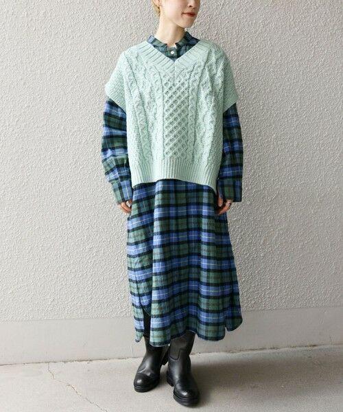 SHIPS for women / シップスウィメン ベスト | 【SHIPS any別注】Oldderby Knitwear: オーバー アラン ケーブル ニット ベスト | 詳細21