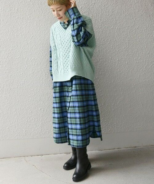 SHIPS for women / シップスウィメン ベスト | 【SHIPS any別注】Oldderby Knitwear: オーバー アラン ケーブル ニット ベスト | 詳細22