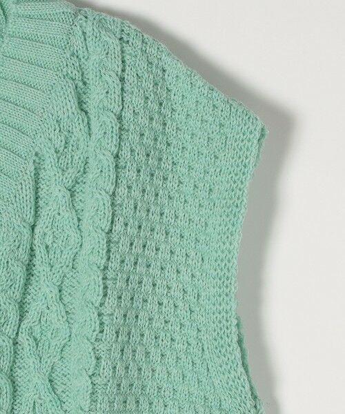 SHIPS for women / シップスウィメン ベスト | 【SHIPS any別注】Oldderby Knitwear: オーバー アラン ケーブル ニット ベスト | 詳細15