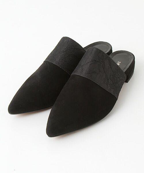 SHOE MARKET PLUS / シューマーケットプリュス サンダル   コンビデザインミュール(ブラック)