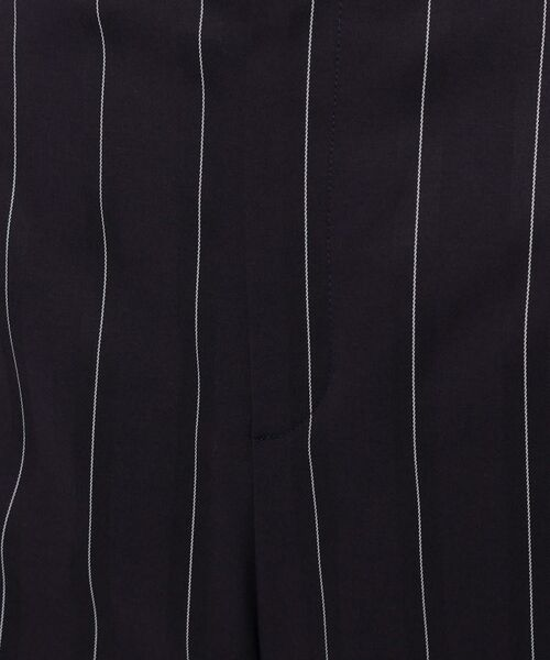 smart pink / スマート ピンク ショート・ハーフ・半端丈パンツ | 【洗える】ストライプ柄ワイドパンツ | 詳細6
