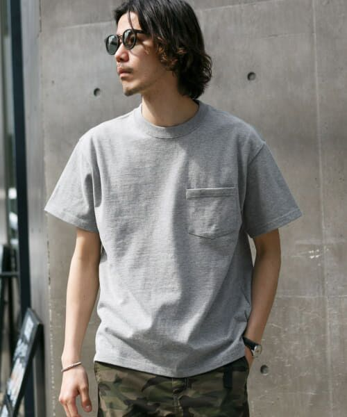 Sonny Label / サニーレーベル Tシャツ   JEMORGAN×SonnyLabel 度詰め天竺ビッグTシャツ(グレー)