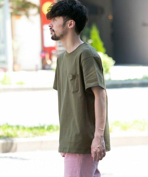 Sonny Label / サニーレーベル Tシャツ   JEMORGAN×SonnyLabel 度詰め天竺ビッグTシャツ(カーキ)