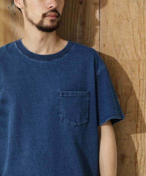 Sonny Label / サニーレーベル Tシャツ   JEMORGAN×SonnyLabel 度詰め天竺ビッグTシャツ(インディゴ)