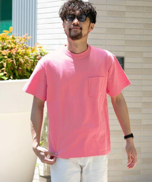 Sonny Label / サニーレーベル Tシャツ   JEMORGAN×SonnyLabel 度詰め天竺ビッグTシャツ(ピンク)