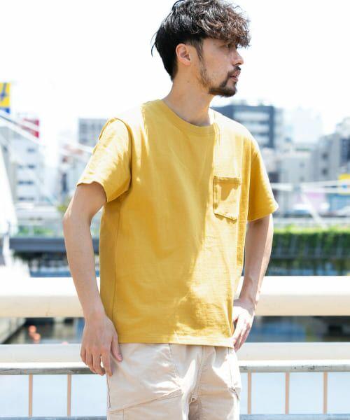 Sonny Label / サニーレーベル Tシャツ   JEMORGAN×SonnyLabel 度詰め天竺ビッグTシャツ(マスタード)