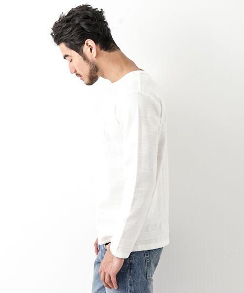 Sonny Label / サニーレーベル Tシャツ | シャドーボーダーロングTシャツ | 詳細13