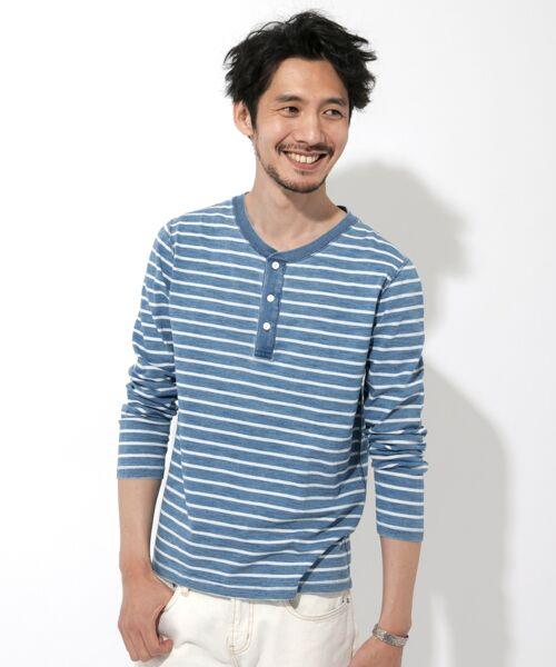 Sonny Label / サニーレーベル Tシャツ | JEMORGAN×Sonny Label 別注ヘンリーロングTシャツ(薄ボーダー)