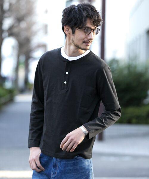 Sonny Label / サニーレーベル Tシャツ | JEMORGAN×Sonny Label 別注ヘンリーロングTシャツ(ブラック)