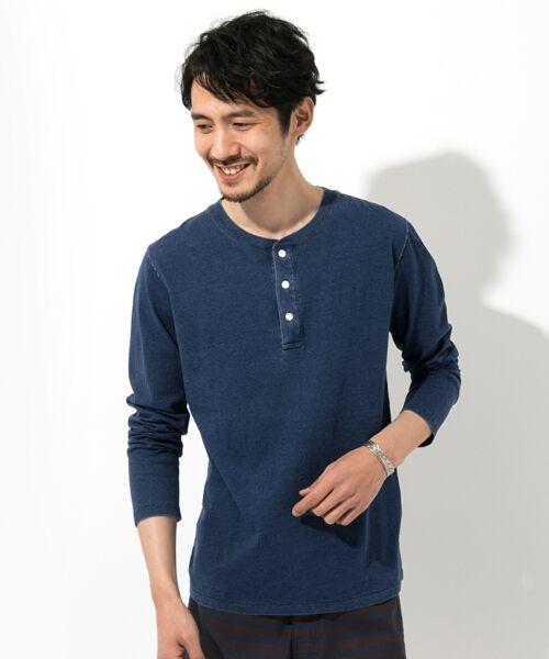 Sonny Label / サニーレーベル Tシャツ | JEMORGAN×Sonny Label 別注ヘンリーロングTシャツ(インディゴ)