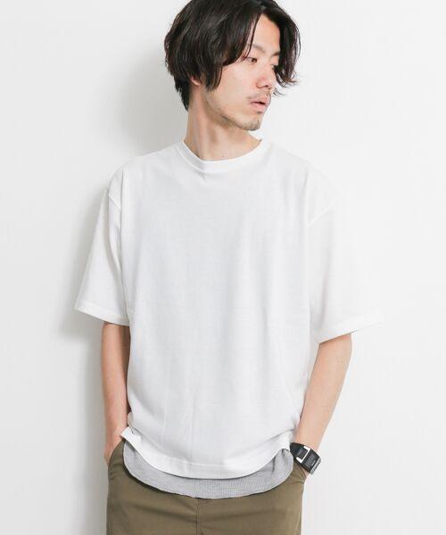 レイヤードTシャツ+タンクトップ