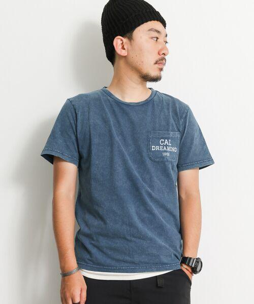 ポケットロゴ加工Tシャツ