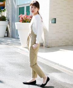 ご好評につき追加予約!細めのストラップで大人の女性に似合う1着に仕上がったエプロンサロペット。