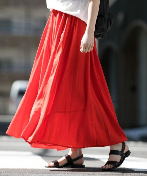 【WEB限定商品】心浮き立つ夏の訪れを感じさせる、軽やかなマキシスカート。