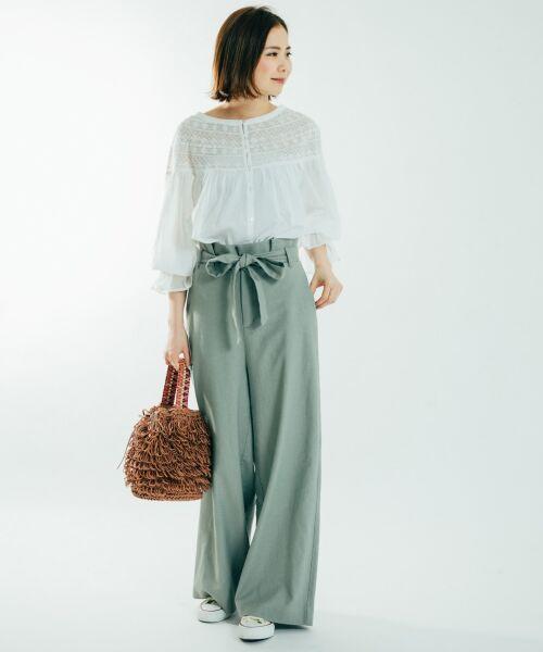 【予約】ペーパー素材のループ編みバッグは職人さんによるハンドメイド。
