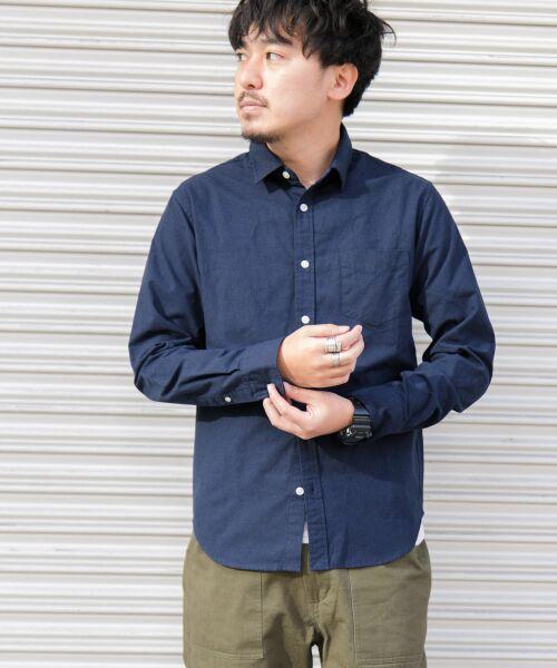 Sonny Label / サニーレーベル シャツ・ブラウス | クイックドライレギュラーシャツ(ネイビー)