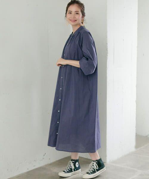 Sonny Label / サニーレーベル ワンピース   ギャザーシャツワンピース   詳細11
