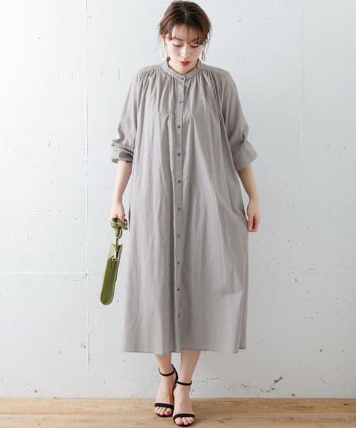 Sonny Label / サニーレーベル ワンピース   ギャザーシャツワンピース   詳細18