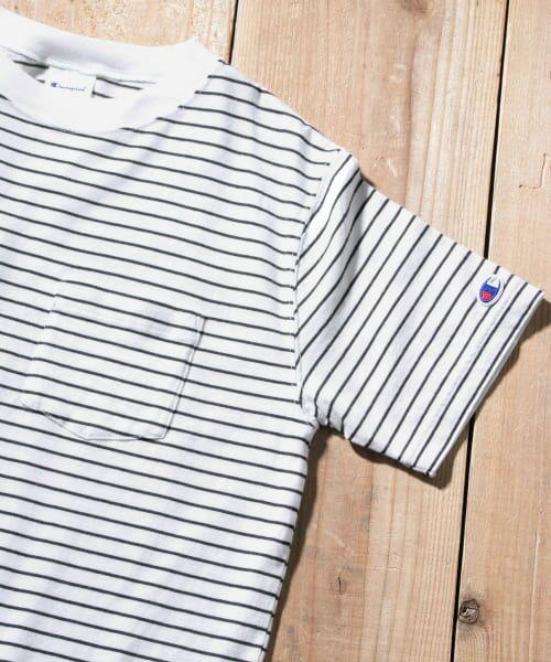 Sonny Label / サニーレーベル Tシャツ | Champion ボーダーTシャツ(010ホワイト)