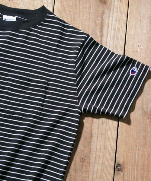 Sonny Label / サニーレーベル Tシャツ | Champion ボーダーTシャツ(090ブラック)