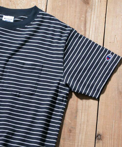 Sonny Label / サニーレーベル Tシャツ | Champion ボーダーTシャツ(370ネイビー)