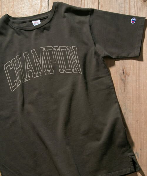 Sonny Label / サニーレーベル Tシャツ | Champion 製品染めロゴTシャツ(090ブラック)