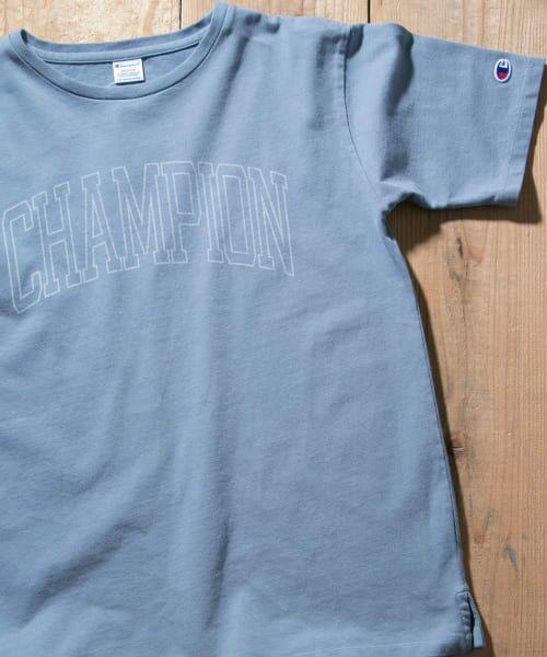 Sonny Label / サニーレーベル Tシャツ | Champion 製品染めロゴTシャツ(390ブルー)