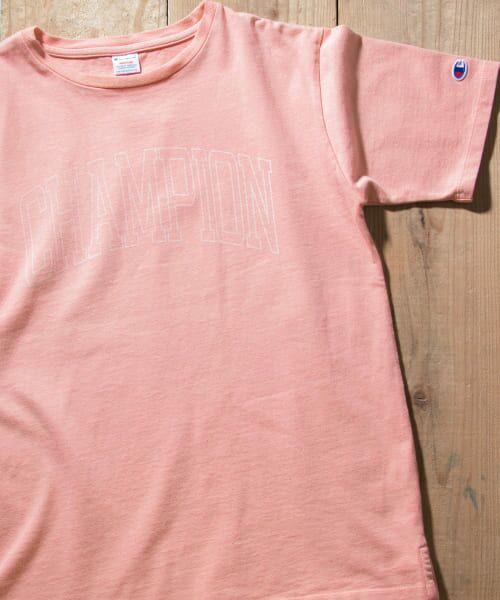 Sonny Label / サニーレーベル Tシャツ | Champion 製品染めロゴTシャツ(910ピンク)