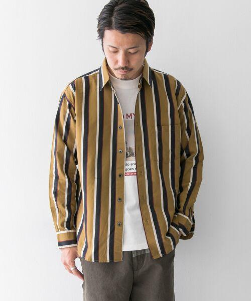 Sonny Label / サニーレーベル シャツ・ブラウス | ジャパンファブリックマルチストライプシャツ(マスタード系)