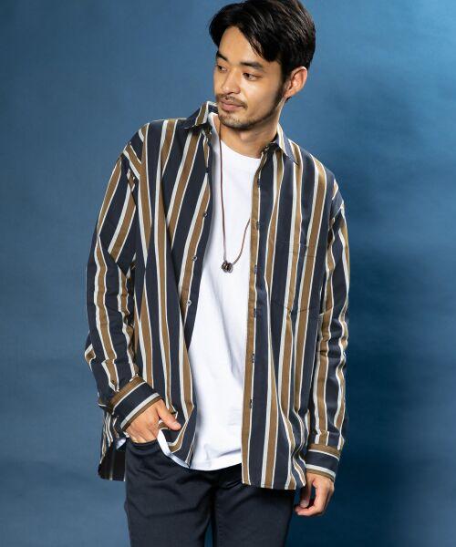 Sonny Label / サニーレーベル シャツ・ブラウス | ジャパンファブリックマルチストライプシャツ | 詳細11