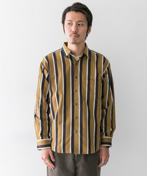 Sonny Label / サニーレーベル シャツ・ブラウス | ジャパンファブリックマルチストライプシャツ | 詳細13