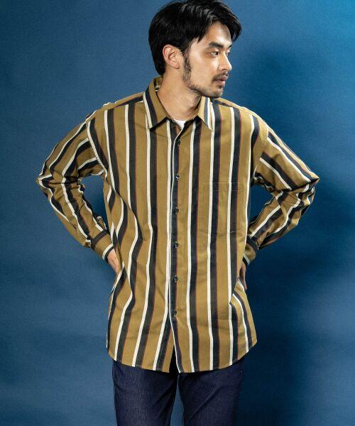 Sonny Label / サニーレーベル シャツ・ブラウス | ジャパンファブリックマルチストライプシャツ | 詳細7
