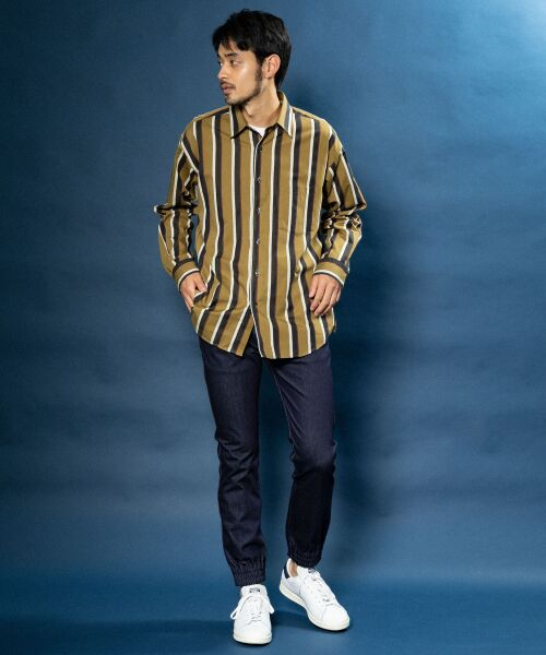 Sonny Label / サニーレーベル シャツ・ブラウス | ジャパンファブリックマルチストライプシャツ | 詳細8
