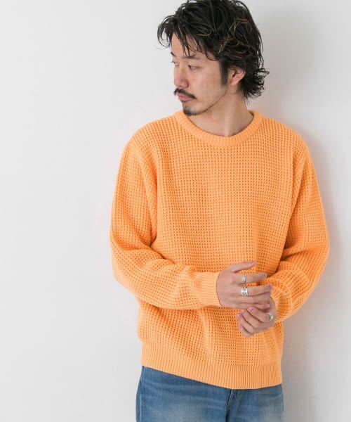 Sonny Label / サニーレーベル ニット・セーター | ワッフル編みスプリングニット | 詳細3