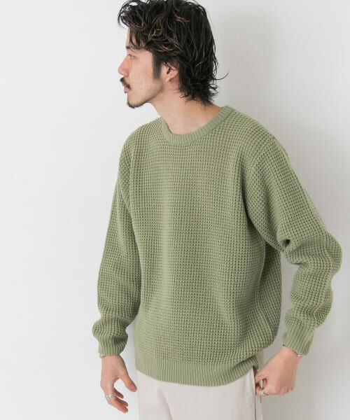 Sonny Label / サニーレーベル ニット・セーター | ワッフル編みスプリングニット | 詳細5
