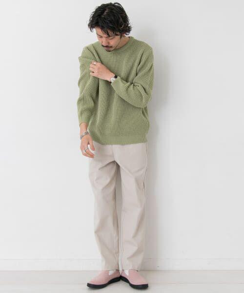 Sonny Label / サニーレーベル ニット・セーター | ワッフル編みスプリングニット | 詳細6