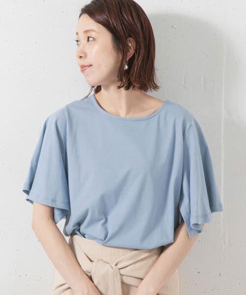 Sonny Label / サニーレーベル Tシャツ   袖フレアカットプルオーバー(サックス)