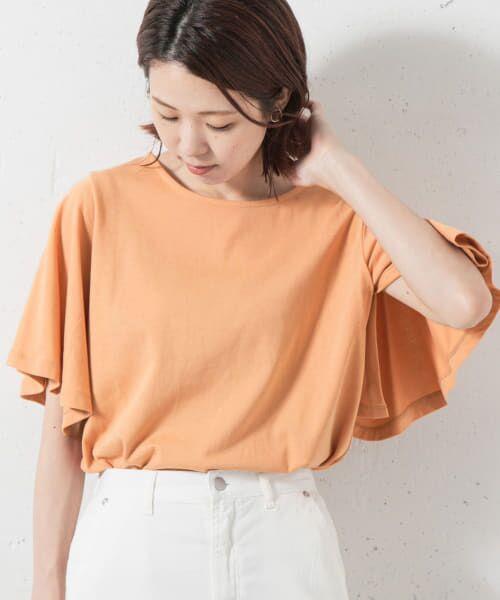 Sonny Label / サニーレーベル Tシャツ   袖フレアカットプルオーバー(オレンジ)