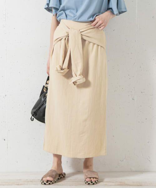 Sonny Label / サニーレーベル スカート   シャツラップライクスカート(ベージュ)